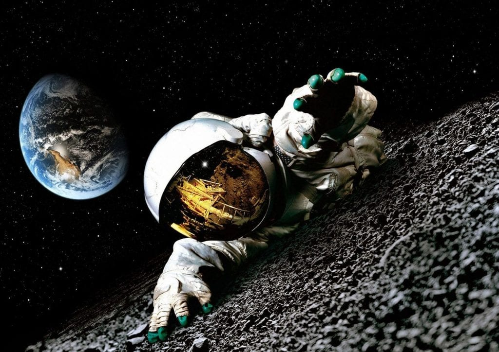 astronaut drinking beer in space - photo #19