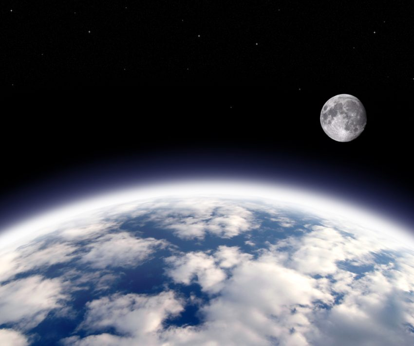 moon in space photography