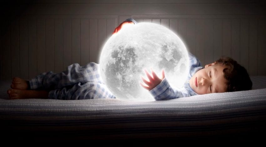 Sleeping With Moon Photo Manipulation by Jordi Rios