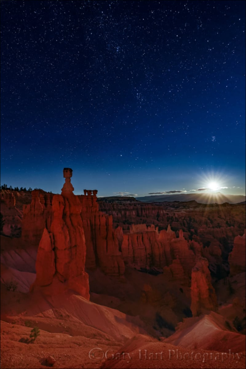 Moonstar Over Bryce Canyon