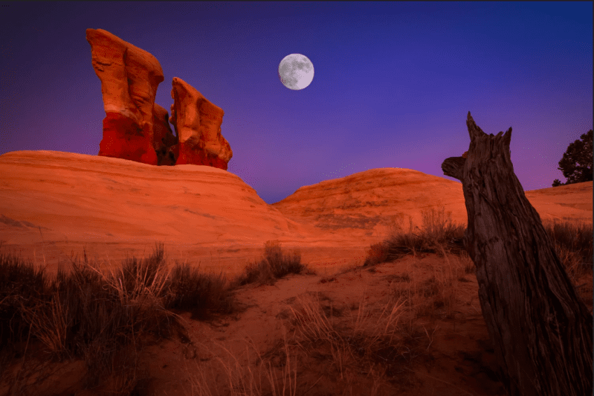 devils garden escalante moon