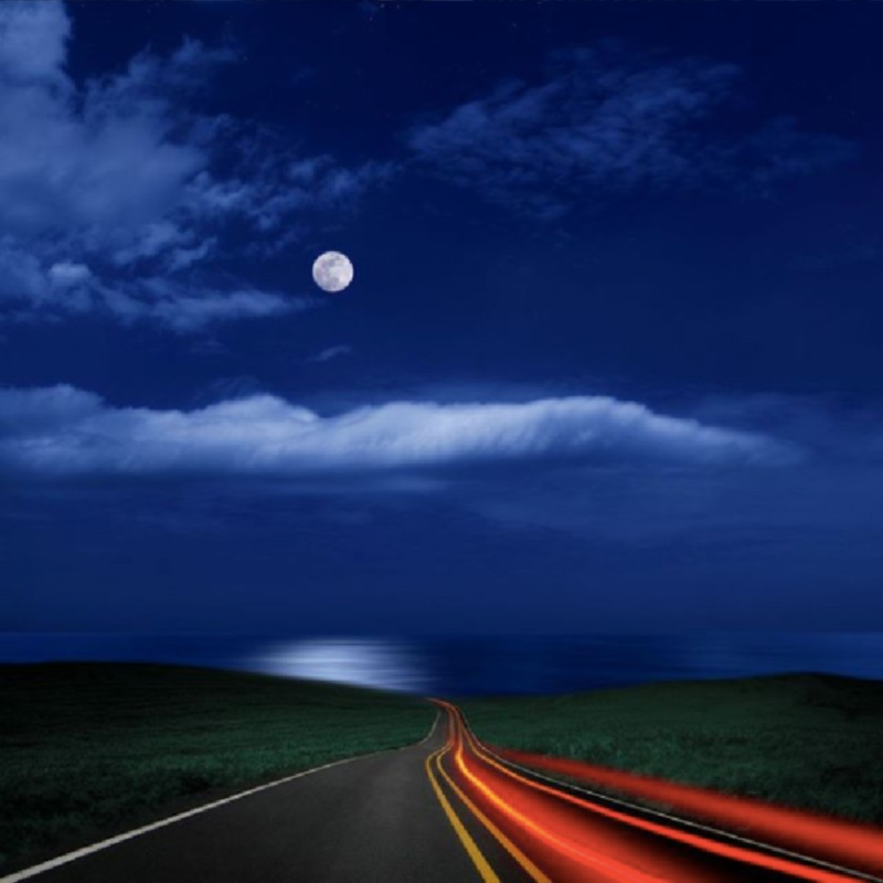 Full moon on the road to the beach- Photography by Carlos Gotay